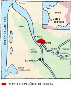 Côtes de Bourg en Gironde en Aquitaine
